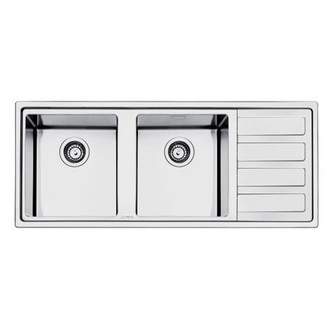Smeg LD116D 2 117cm Mira Right Hand Drainer Low Profile Sink In St St