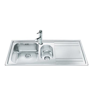 Smeg LE102D 2 100cm Rigae 1 5 Bowl Right Hand Drainer Sink in St St