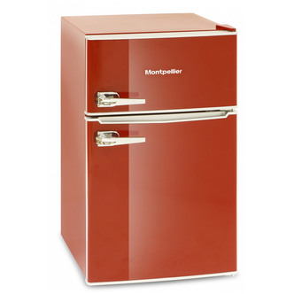 Montpellier MAB2030R Under Counter Retro Style Fridge Freezer in Red A