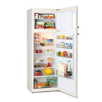 Image of Montpellier MAB346C Retro Style Top Mount Fridge Freezer in Cream 1 69