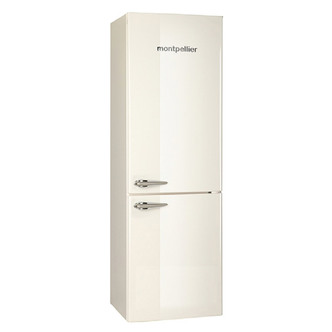 Montpellier MAB365C Retro Style Fridge Freezer in Cream 1 8m A Rated