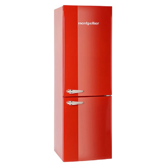 Montpellier MAB365R Retro Style Fridge Freezer in Red 1 8m A Rated