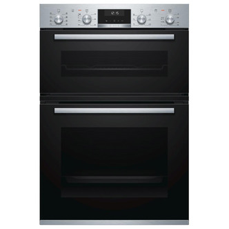 Image of Bosch MBA5350S0B Serie 6 Built In Electric Double Oven in Brushed Stee
