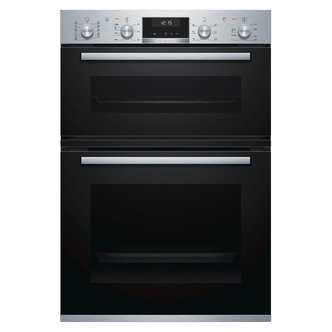 Image of Bosch MBA5575S0B Serie 6 Built In Double Multi function Oven in Br Ste
