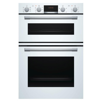 Image of Bosch MBS533BW0B Serie 4 Built In Hot Air Double Oven in White