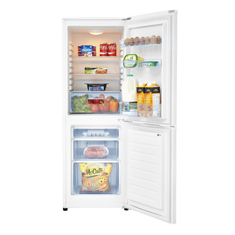 Fridgemaster MC50165 50cm Fridge Freezer in White 60 40 Split 1 43m A