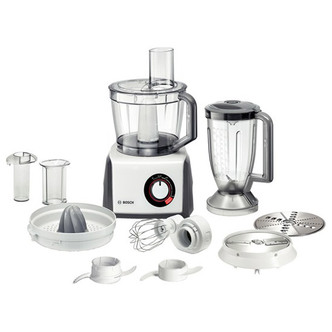 Bosch MCM62020GB Food Processor in White 1000W 4 Speeds 8 Attachments