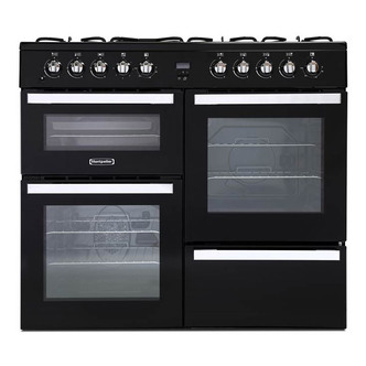 Image of Montpellier MDF100K 100cm Triple Cavity Dual Fuel Range Cooker in Blac