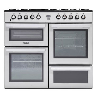 Image of Montpellier MDF100S 100cm Triple Cavity Dual Fuel Range Cooker in St S