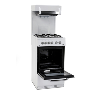 Image of Montpellier MEL50W 50cm Eye Level Grill Gas Cooker in White A Energy R