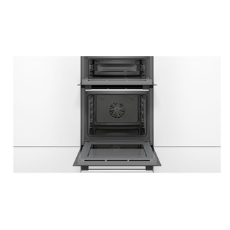 Image of Bosch MHA133BR0B Serie 2 Built In Double Oven in Brushed Steel