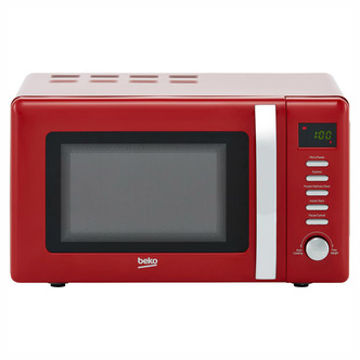 Beko MOC20200R Retro Style Microwave Oven in Red 20 Litre 800W