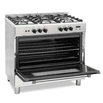 Image of Montpellier MR91GOX 90cm Single Cavity Gas Range Cooker in St Steel
