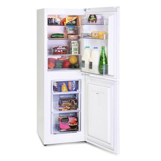 Montpellier MS145W 50cm Fridge Freezer in White 1 45m 55 45 Split F Ra