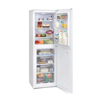 Montpellier MS175W 55cm Fridge Freezer in White 1 73m 50 50 Split F Ra