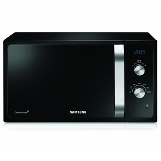 Image of Samsung MS23F301EAK Compact Microwave Oven in Black 23L 800W