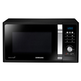 Image of Samsung MS23F301TAK Compact Microwave Oven in Black 23L 800W