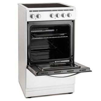 Image of Montpellier MSC50W 50cm Electric Cooker in White 4 Zone Ceramic Hob