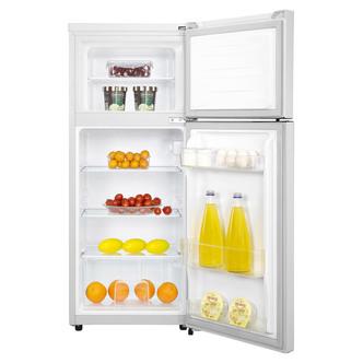 Fridgemaster MTM48120 50cm Fridge Freezer in White 1 18m 80 20 Split A