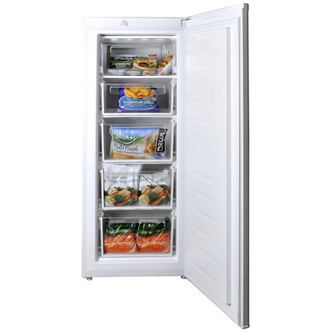 Fridgemaster MTZ55160 55cm Upright Freezer 1 44m in White 160L A Rated