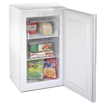 Fridgemaster MUZ4965 50cm Undercounter Freezer in White 71L A Rated