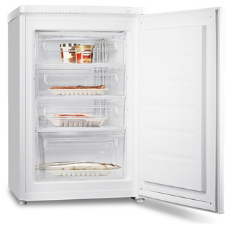 Fridgemaster MUZ5580 55cm Undercounter Freezer in White 88L A Rated