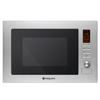 Hotpoint MWH222 1X Built In Microwave Oven with Grill St Steel 25L 900