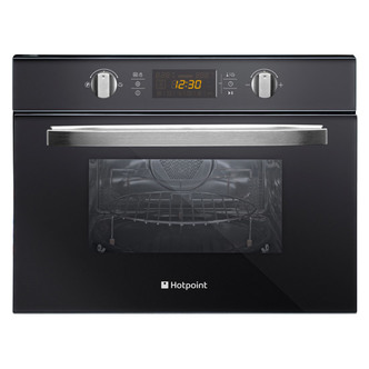 Hotpoint MWH424 1X Built In Combi Microwave Oven in Black Mirror 44L