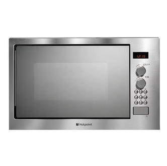 Hotpoint MWX222X1 Built In Microwave Oven with Grill St Steel 24L 900W