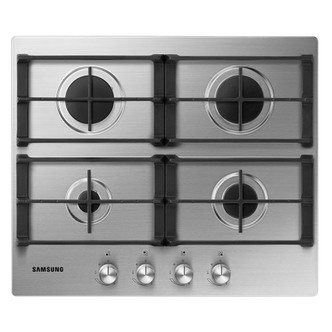 Samsung NA64H3010AS 60cm Gas Hob in Stainless Steel Cast Iron Supports