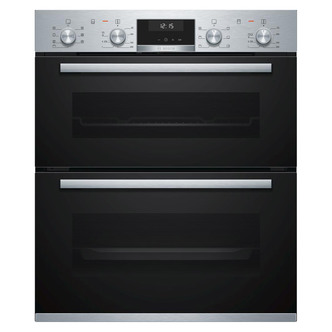 Image of Bosch NBA5350S0B Serie 6 Built Under Double Oven in Brushed Steel
