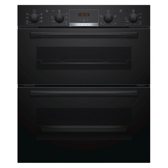Image of Bosch NBS533BB0B Serie 4 Built Under Electric Double Oven in Black