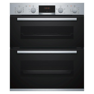 Image of Bosch NBS533BS0B Serie 4 Built Under Electric Double Oven in St Steel