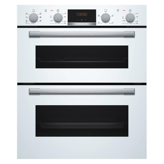 Image of Bosch NBS533BW0B Serie 4 Built Under Electric Double Oven in White