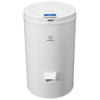 indesit nisdg428 4kg spin dryer in white with gravity drain