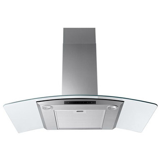 Image of Samsung NK36M5070CS 90cm Curved Glass Chimney Hood in St Steel 4 Speed