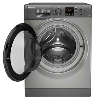 Hotpoint NSWF742UGG Washing Machine in Graphite 1400rpm 7Kg E Rated