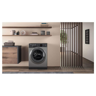 Hotpoint NSWF743UGG Washing Machine in Graphite 1400rpm 7Kg D Rated