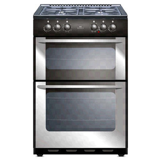 New World 444445701 55cm LPG Gas Cooker in St Steel NW55TWLG LPG STA
