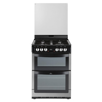 New World NW601DFDOLST 60cm Dual Fuel Cooker in Stainless Steel Double