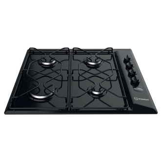 Indesit PAA642IBK 60cm Gas Hob in Black Flame Failure Device