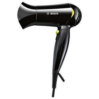 Bosch PHD1151GB Style To Go Hairdryer in Black Yellow 1200W