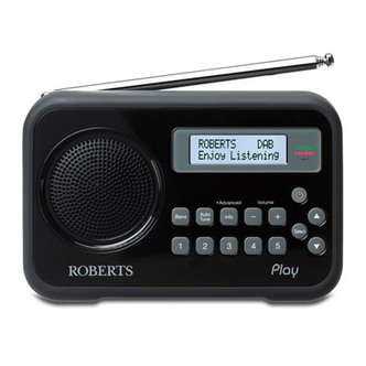 Roberts PLAY BK Play DAB DAB FM RDS Radio with Battery Charger Black