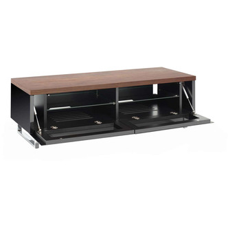 Techlink PM120W Panorama TV Stand in Walnut for TV s up to 60