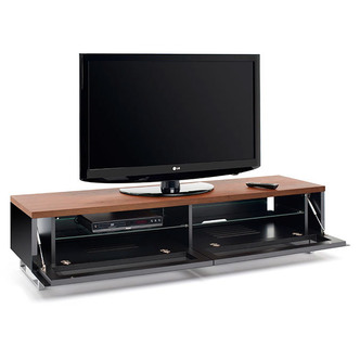 Techlink PM160W Panorama TV Stand in Walnut for TV s up to 80