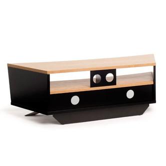 Techlink PR130SBLO Prisma TV Stand in Black Light Oak for TV s up to 6