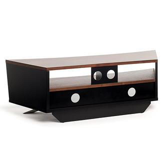 Techlink PR130SBW Prisma TV Stand in Black Walnut for TV s up to 65