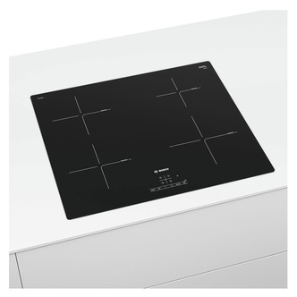Image of Bosch PUE611BB1E Serie 4 60cm 4 Zone Induction Hob in Black Glass