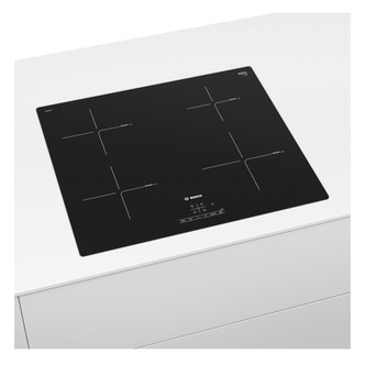 Image of Bosch PUE611BF1B 60cm Serie 4 Frameless Electric Induction Hob in Blac