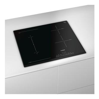 Bosch PVS651FB1E Serie 6 60cm 4 Zone Induction Hob in Black Glass